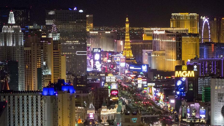 The Las Vegas Strip and skyline