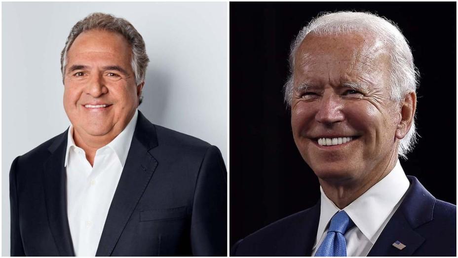 Jim Gianopulos (left) and Joe Biden (right)