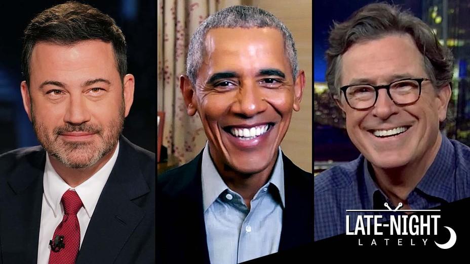 Jimmy Kimmel - BARACK OBAMA - Stephen Colbert