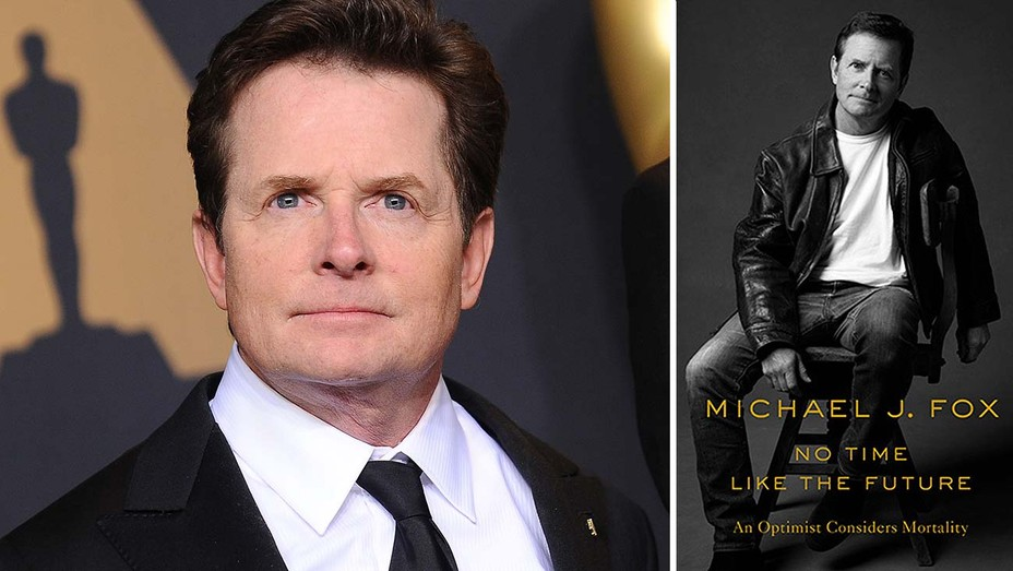 Michael-J-Fox-and-Book-Cover-No-Time-Like-the-Future