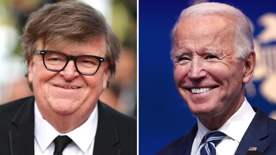 Michael Moore and Joe Biden