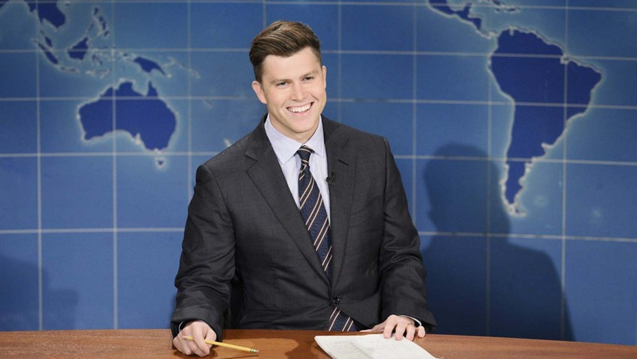 Anchor Colin Jost during Weekend Update on Saturday, October 31, 2020
