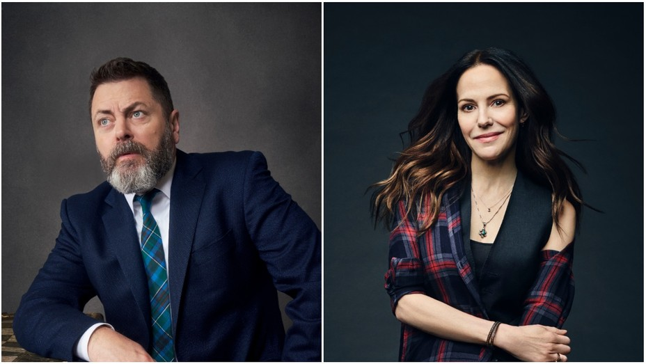 Nick Offerman and Mary Louise Parker