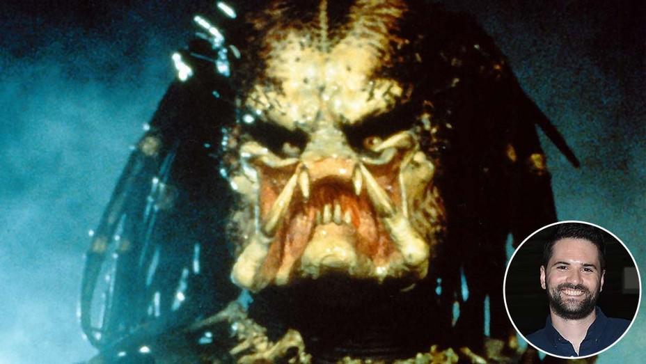 Predator 1987 still with an inset of director Dan Trachtenberg