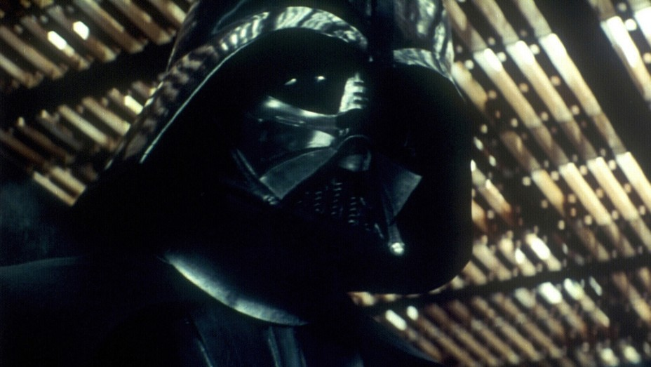 David Prowse as Darth Vader in 'Star Wars: A New Hope'.