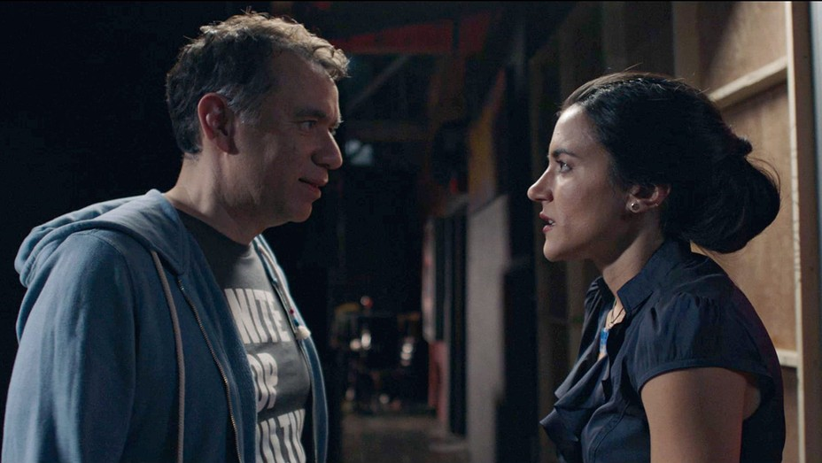 Fred Armisen and Alyssa Limperis in 'Too Late'