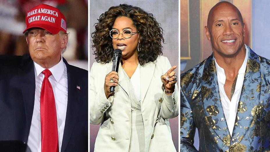 Trump, Oprah and Dwayne Johnson