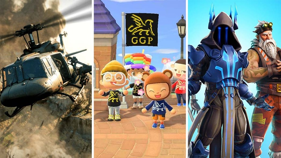 Call of Duty, Animal Crossing and Fortnite