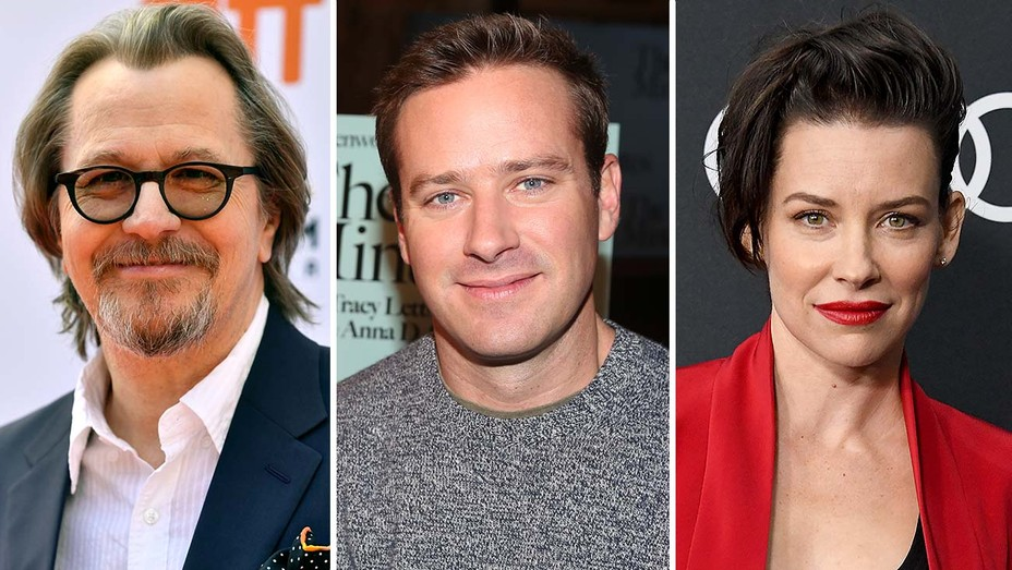Gary Oldman, Armie Hammer and Evangeline Lilly