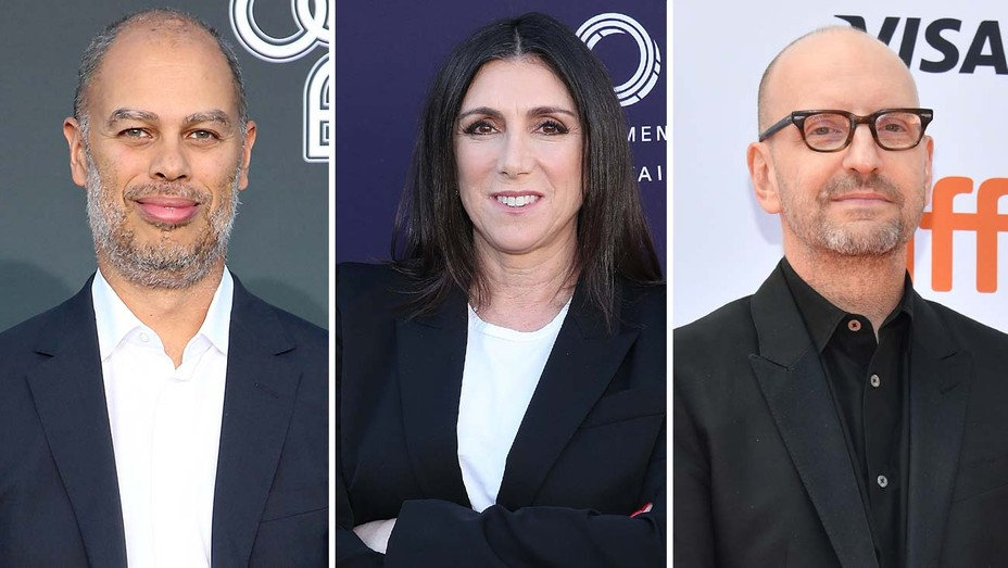 From left: Jesse Collins, Stacey Sher and Steven Soderbergh
