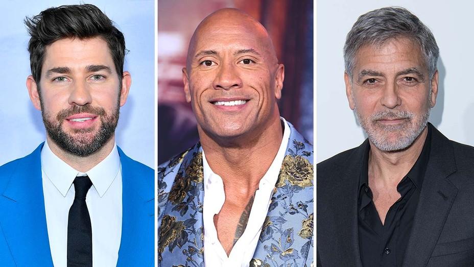 John Krasinski, Dwayne Johnson and George Clooney