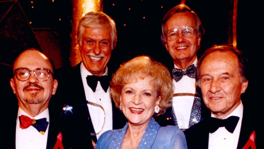 The Academy of Television Arts & Sciences inducts TV legends into the Television Hall of Fame, from left: William Link, Dick Van Dyke, Betty White, Bill Moyers, Jim McKay.
