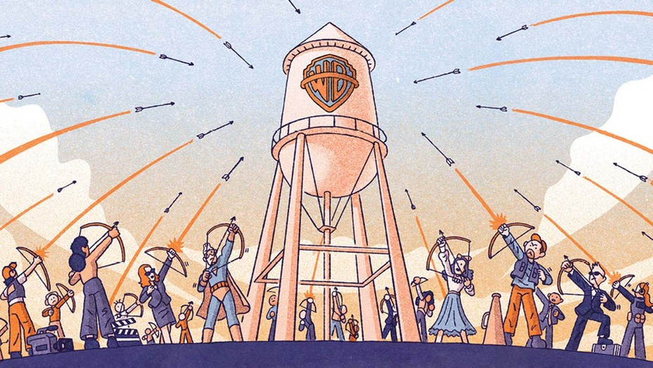 Warner Bros Under Siege Illustration By Tim Peacock
