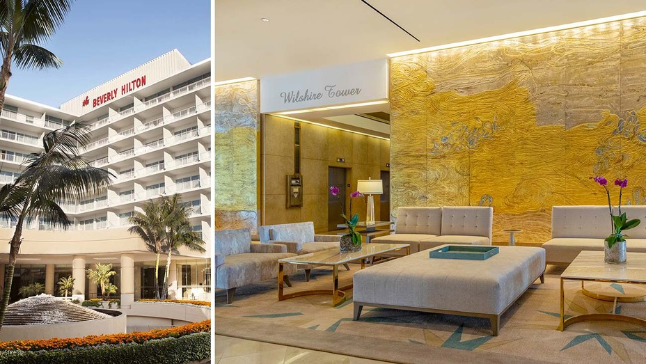The-Beverly HIlton-and-Split-of-Lobby