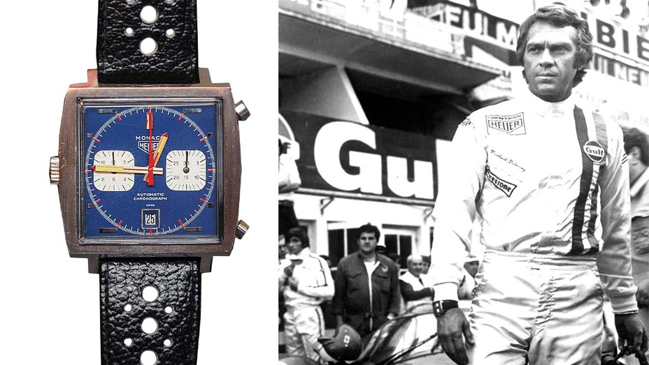 The TAG Heuer Monaco worn by Steve McQueen in the movie Le Mans