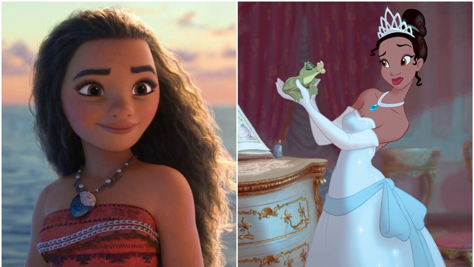 Stills from 'Moana' and 'The Princess and the Frog'