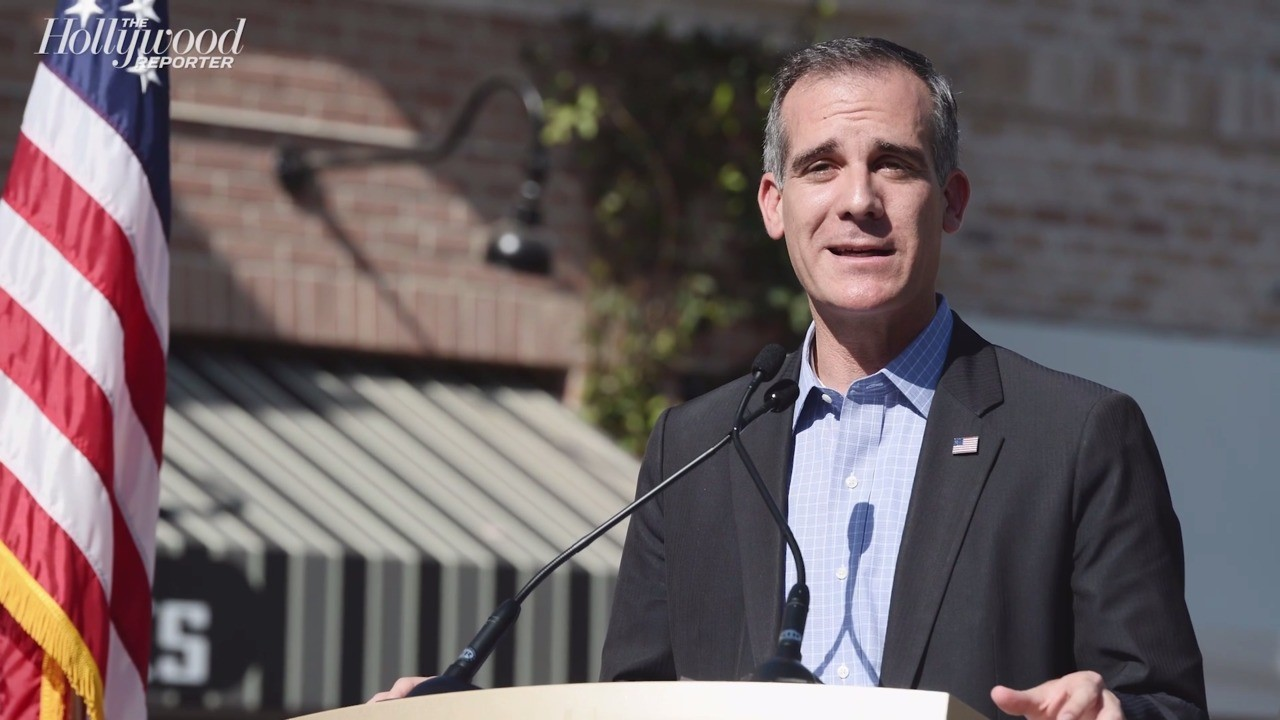 Mayor of L.A. Eric Garcetti Issues Emergency COVID-19 Order to City | THR News