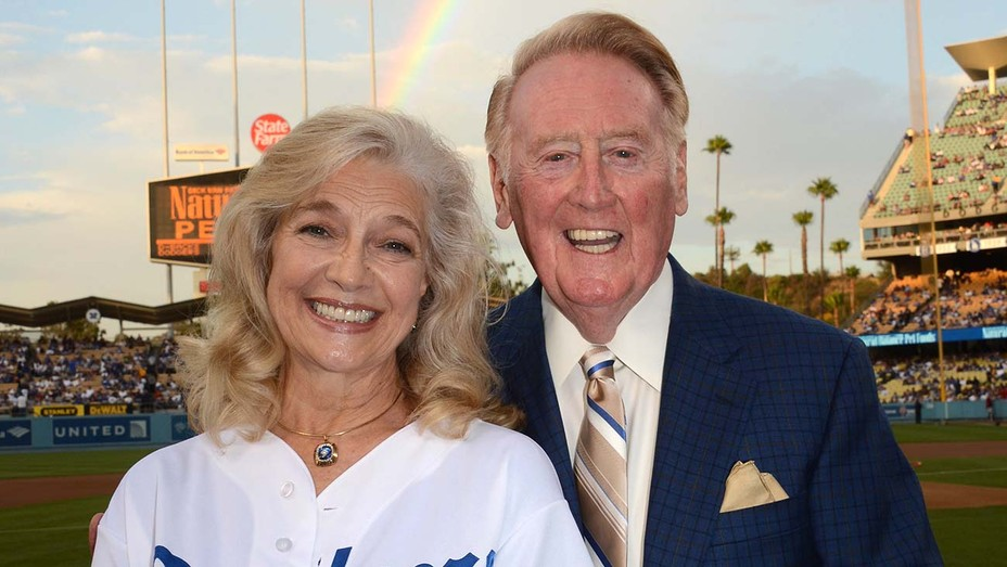 Sandra and Vin Scully