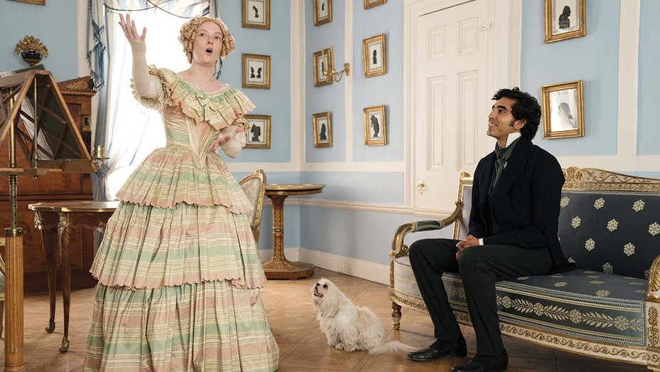 Morfydd Clark and Dev Patel in 'The Personal History of David Copperfield'
