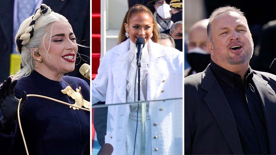 Lady Gaga, Jennifer Lopez, Garth Brooks