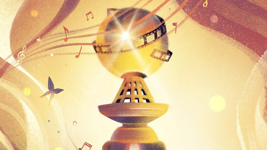 Can a Musical Beat Comedies to Sing Out at the Globes - Illustration by Jasu Hu