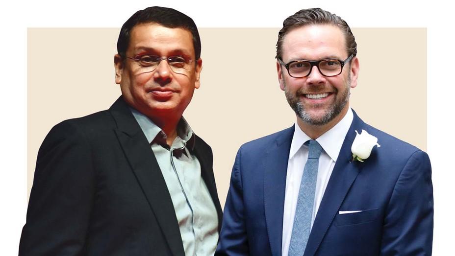 Uday Shankar (left), James Murdoch