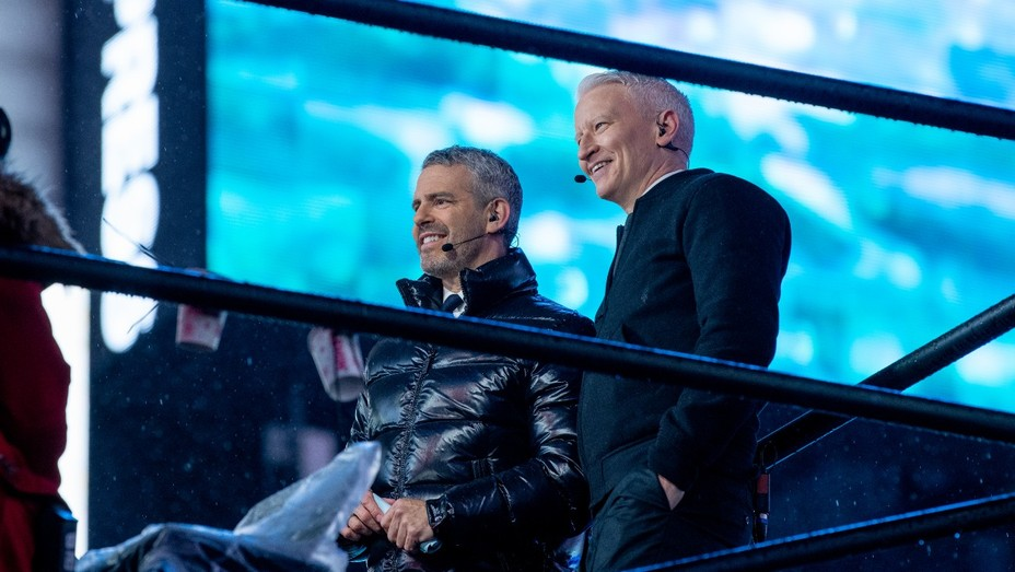 Anderson Cooper and Andy Cohen on New Year's Eve on CNN.