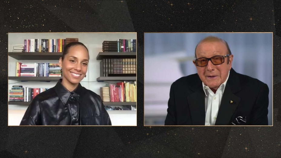 Alicia Keys and Clive Davis
