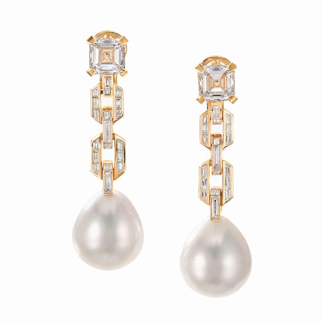 David Yurmans Stax South Sea Perlen- und Diamantohrringe; Preis auf Anfrage, davidyurman.com