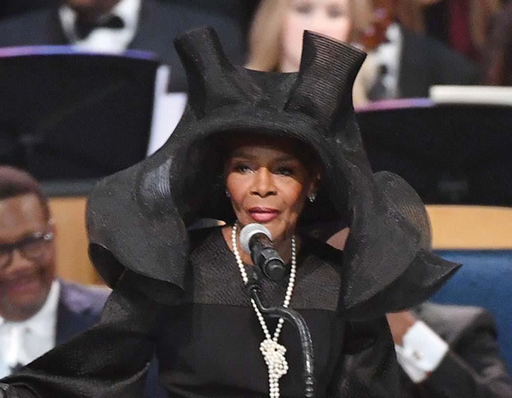Tyson bei Aretha Franklins Beerdigung.