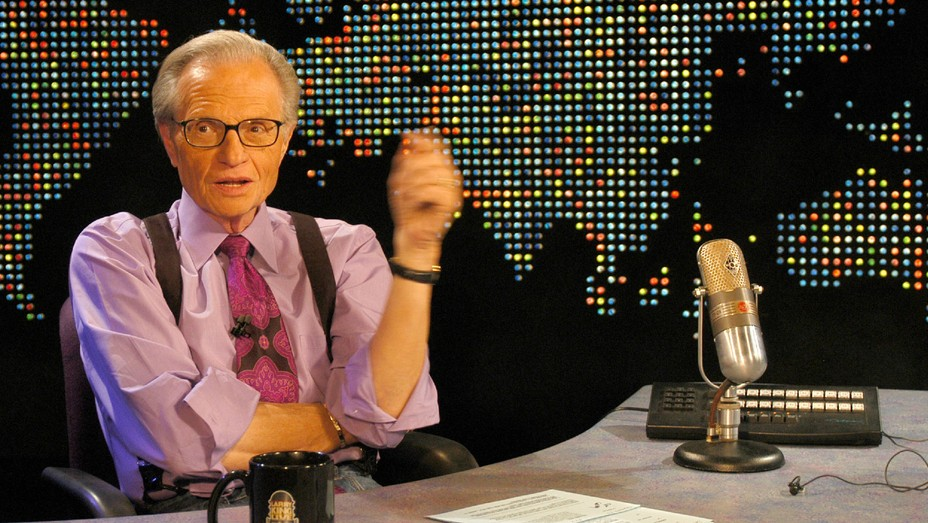 Larry King during Live Taping of 'The Larry King Show' at CNN Los Angeles Bureau.