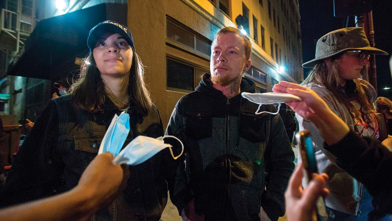 """L.A. Anti-Mask Group Vows More Actions: """"It's Like a Flash Mob"""""""
