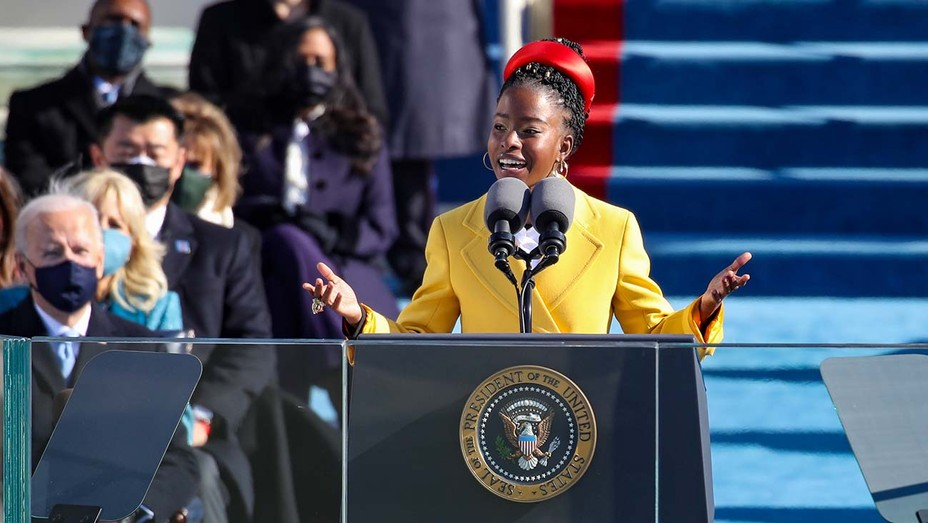 Poet Laureate Amanda Gorman at the U.S. Capitol Inauguration Ceremony