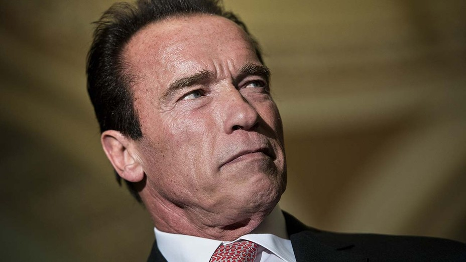 Former Governor of California and US actor Arnold Schwarzenegger speaks during a panel conference at the One Planet Summit on December 12, 2017