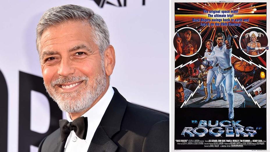 George Clooney Buck Rogers Poster Split