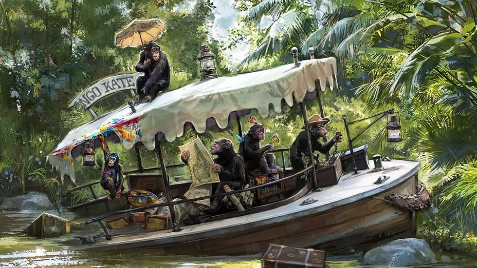 Sunken Chimp Boat