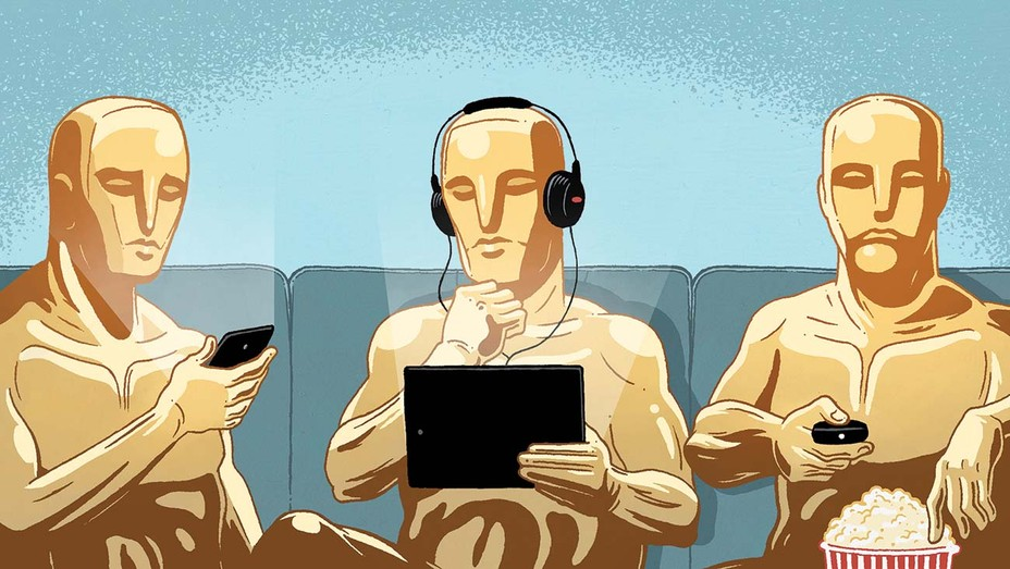 The Streaming Oscars Are Here, But What's Been Lost? Illustration by Jasper Rietman