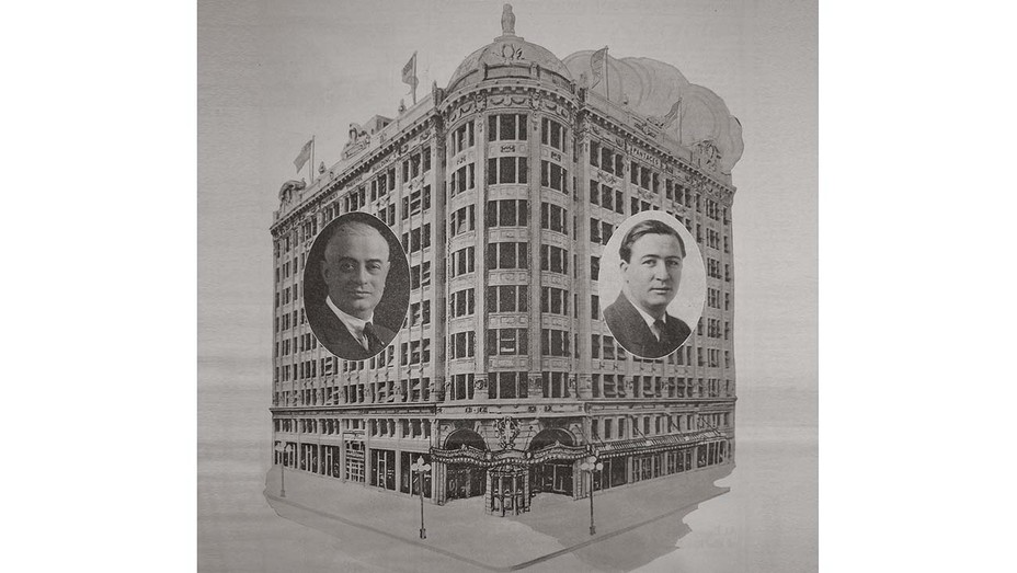A 1920 architectural rendering of the Pantages movie theater in downtown L.A.