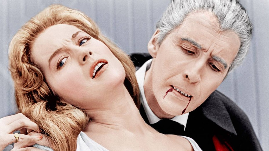 Barbara Shelley (left) in 'Dracula: Prince of Darkness'