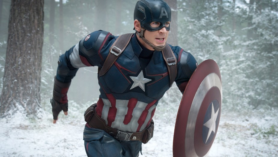 Chris Evans as Captain America in 'Avengers: Age of Ultron'.
