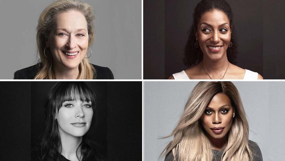 Meryl Streep, Sarah Jones, Rashida Jones and Laverne Cox