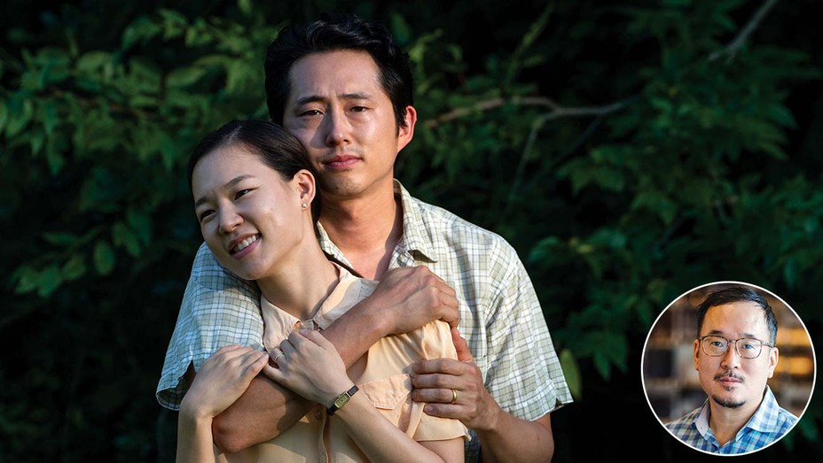 Steven Yeun and Han Ye-ri are forging a new life in America in Minari.Inset: Harry Yoon