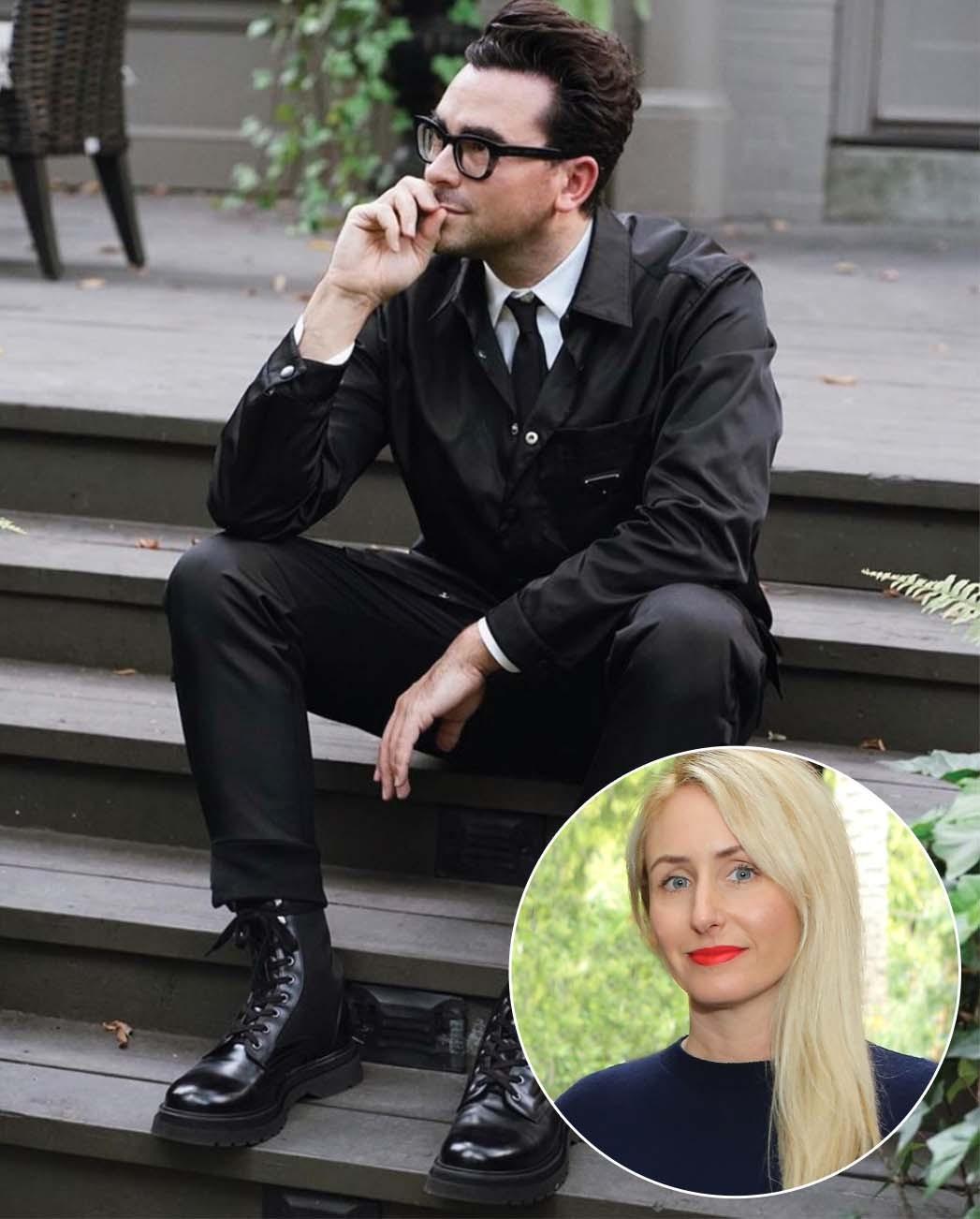 """Über die Zusammenarbeit mit Dan Levy sagt Stylistin Erica Cloud: """"Das Schwierigste ist, dass Ihnen keine Kleidung durch die Hände geht."""""""