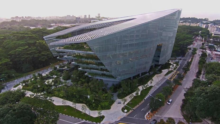 The Sandcrawler Building in Singapore