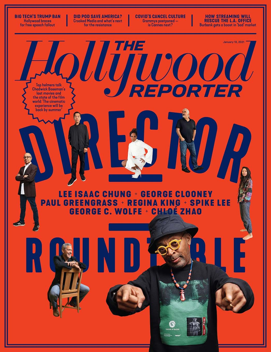 "Director Roundtable: Regina King, Spike Lee, George Clooney and More Reflect on State of ""Cinematic Experience"" Amid Pandemic THR-2cover.hires-2021-1610499029-compressed"