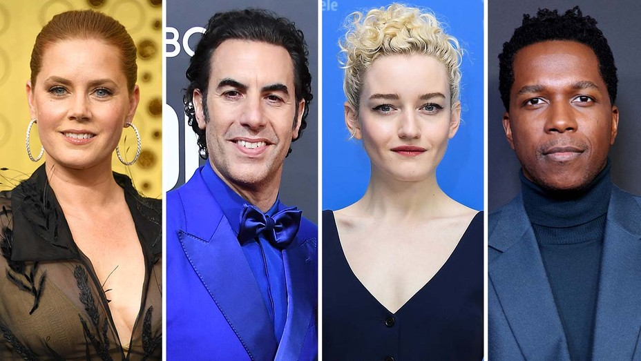 Amy Adams, Sacha Baron Cohen, Julia Garner and Leslie Odom Jr.