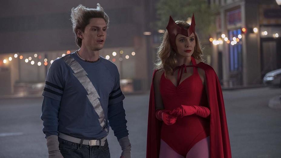 Evan Peters and Elizabeth Olsen in WANDAVISION