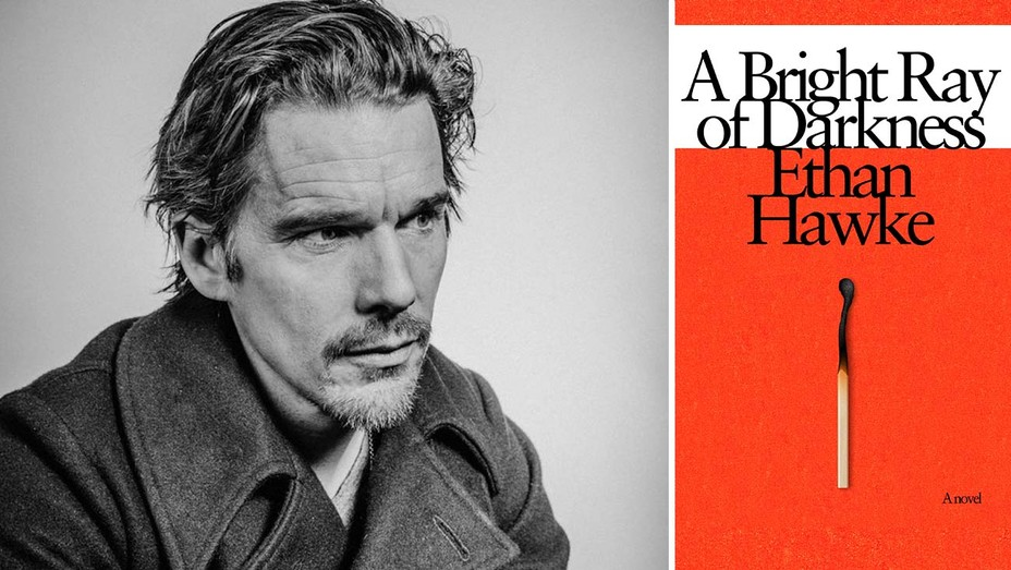 Ethan Hawke and his book cover A Bright Ray of Darkness