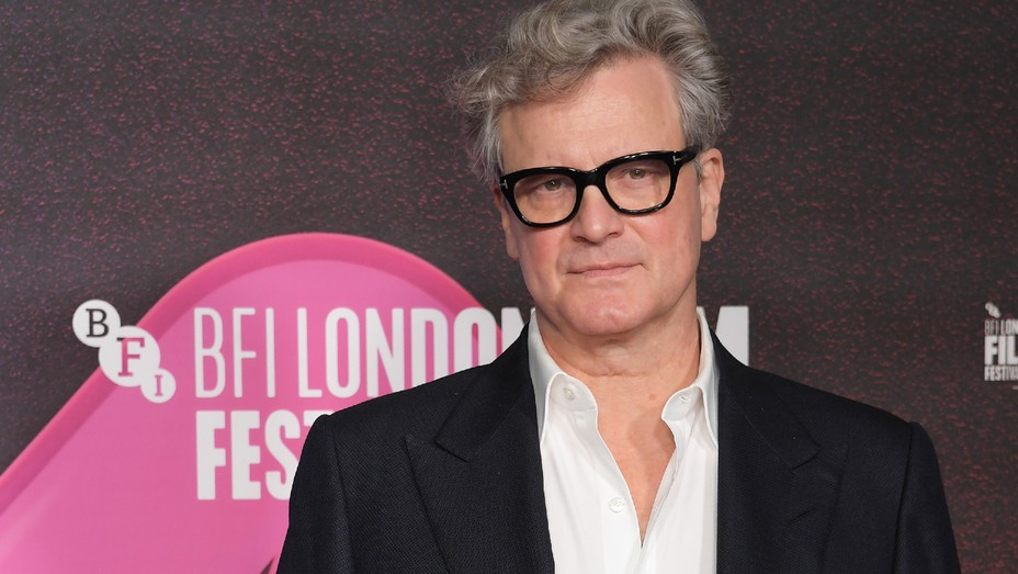 Colin Firth attends the 'Supernova' premiere during the 64th BFI London Film Festival at BFI Southbank on Oct. 11, 2020, in London, England.