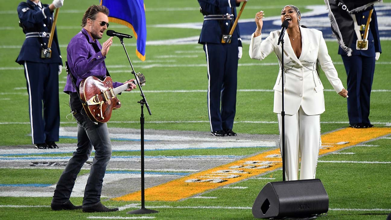 Super Bowl Jazmine Sullivan Eric Church Perform National Anthem Hollywood Reporter